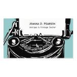 Black Retro Type Machine Writer Vintage Typewriter Pack Of Standard Business Cards