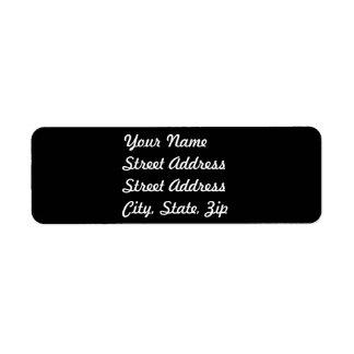 Black Return Address Sticker Return Address Label