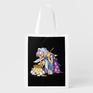 Black Reusable Halloween Treat Bags With Witch