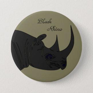 Black Rhino 7.5 Cm Round Badge
