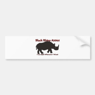 Black Rhino Addict Bumper Sticker