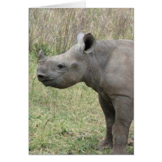 Black Rhino Baby Card