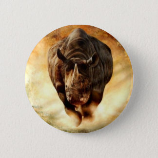 Black+Rhino+Charging 6 Cm Round Badge