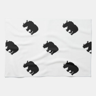 Black Rhino Tea Towel