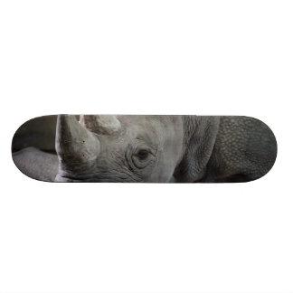 Black Rhinoceros Photo Skateboard