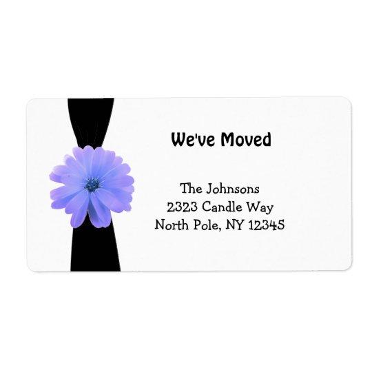 Black Ribbon with Purple Flower New Address