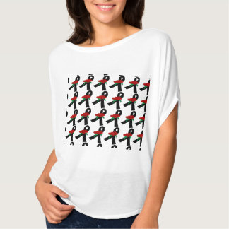 Black Ribon Red Rose, T-Shirt