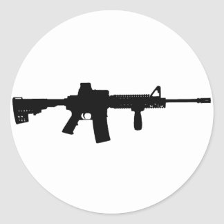 Black Rifle AR-15 from Phil's Art Online Classic Round Sticker