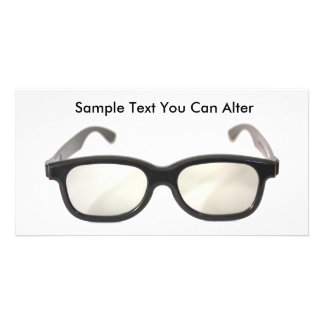 Black rimmed glasses isolated, Sample Text You ... Customised Photo Card