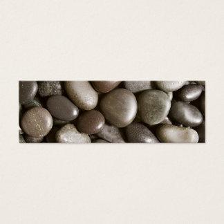 Black River Rock Nature Zen Pebble Mini Business Card