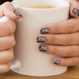 Black Rock Minx Nails by Artist C.L. Brown Minx Nail Art