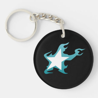 Black Rock Shooter Star Single-Sided Round Acrylic Key Ring