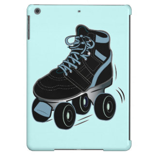 Black Roller Skate on Blue iPad Air Cases