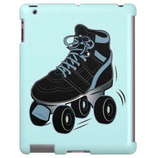 Black Roller Skate on Blue
