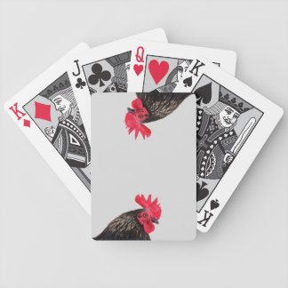 Black Rooster Bicycle Playing Cards