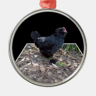 Black Rooster Dimensional Art, Metal Ornament
