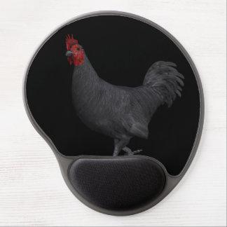 Black Rooster Gel Mouse Pad