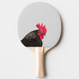 Black Rooster Ping Pong Paddle