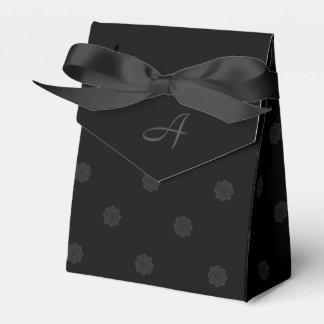Black Rose Favor Box with Monogram Wedding Favour Box