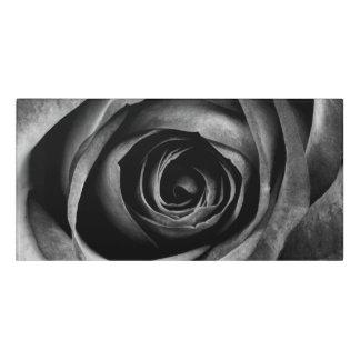 Black Rose Flower Floral Decorative Vintage Door Sign