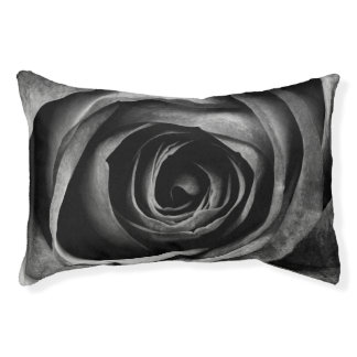 Black Rose Flower Floral Decorative Vintage Pet Bed