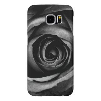 Black Rose Flower Floral Decorative Vintage Samsung Galaxy S6 Cases