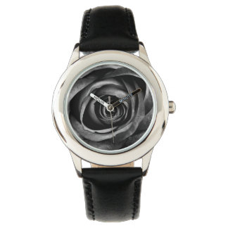 Black Rose Flower Floral Decorative Vintage Watches