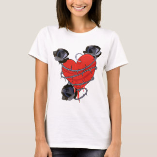 Black Rose Heart T-Shirt