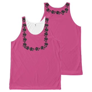Black Rose, Hot Pink All-Over Tank All-Over Print Tank Top