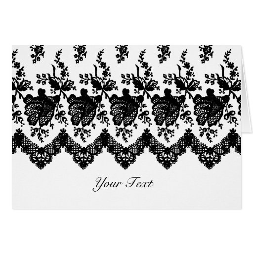 Black Rose Lace A7 Greeting Card (White)