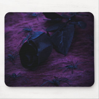 Black Rose Mouse Pad