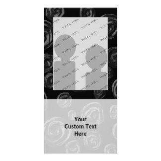 Black Rose Pattern Design. Photo Cards