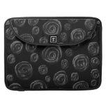 Black Rose Pattern Design. Sleeve For MacBooks