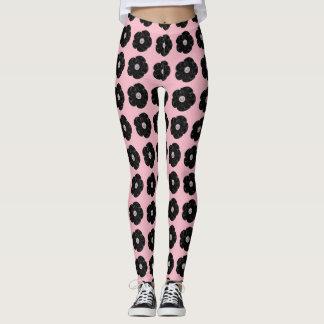Black Rose Pink Leggings