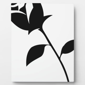 Black Rose Plaque