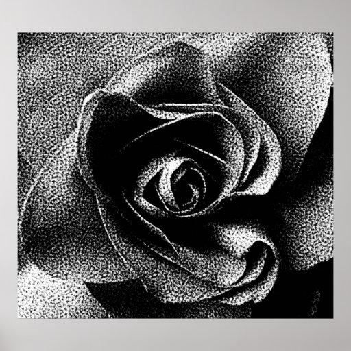 BLACK ROSE PRINT