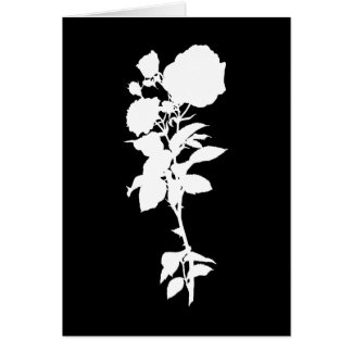 Black Rose Silhouette Greeting Card