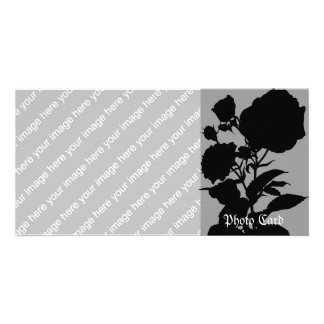 Black Rose Silhouette Photo Card