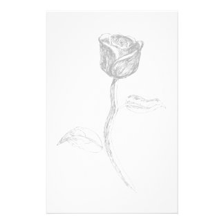 Black Rose. Personalized Stationery