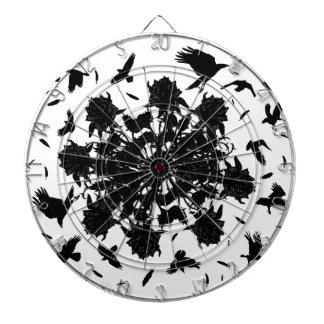 Black roses and ravens dartboard
