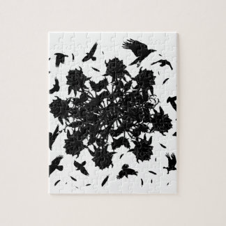 Black roses and ravens jigsaw puzzle