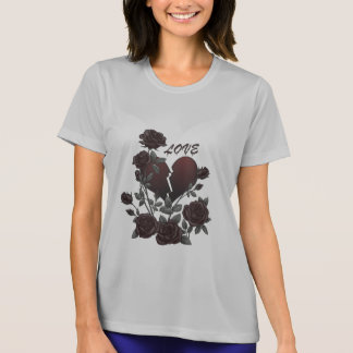 Black Roses Broken Heart T-Shirt