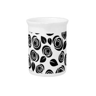 Black roses pitcher