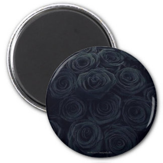 Black Roses Round Decorative Refrigerator Magnets