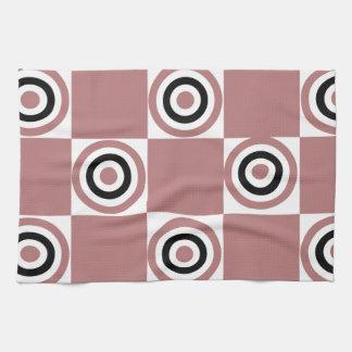 Black Rosy Diner Dots Kitchen Towel