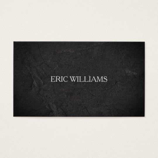 Black rough stone surface look business card