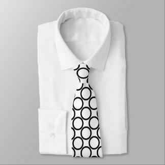 Black Round Pattern Tie