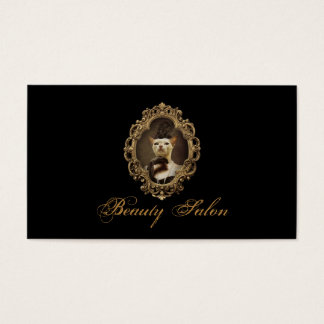 Black Royal Retro Kitty Beauty Salon Card