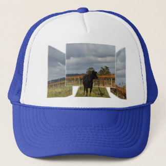 Black Runaway Cow Dimensional Art Frames, Trucker Hat