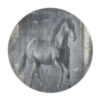 Black Running Stallion Cutting Board